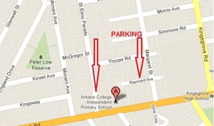 Arkana College Map and Parking