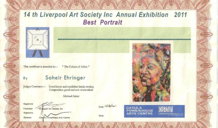 Sohair Ehinger Best Portrait Award