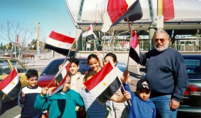 Haj Fawzy Elrayes and grand Children